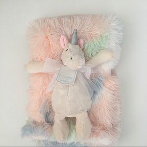 NEW Kyle & Deena Baby Blanket Set Unicorn Nunu